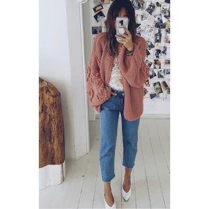 Women's Over-sized Knot Cardigan Jacket